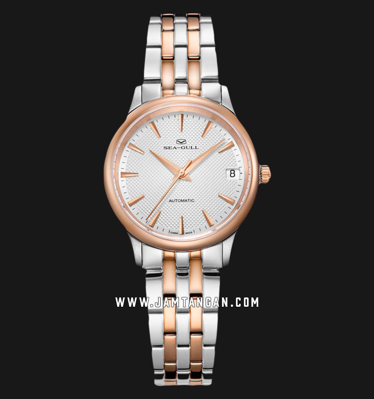 Seagull 217.364L Classic Automatic Mechanical Silver Dial Dual Tone Stainless Steel Strap Machtwatch