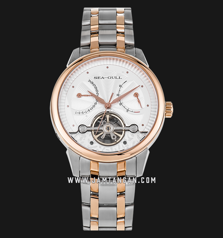 Seagull 217.412 Flywheel Automatic Mechanical Silver Dial Dual Tone Stainless Steel Machtwatch