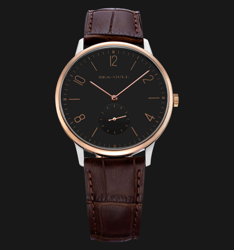 Seagull 219.612 - Automatic Mechanical Brown Leather Machtwatch