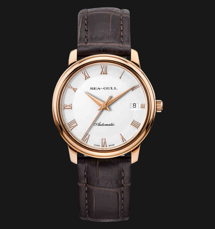 Seagull 519.367 - Automatic Mechanical 24 Jewels Leather Strap Machtwatch