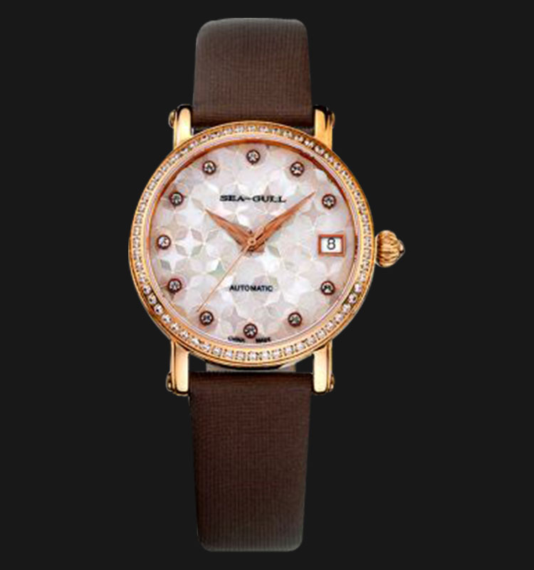 Seagull 719.387BR - Automatic Mechanical 26 Jewels Leather Strap Machtwatch