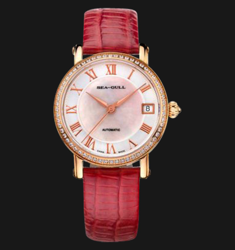 Seagull 719.387RD - Automatic Mechanical 26 Jewels Leather Strap Machtwatch