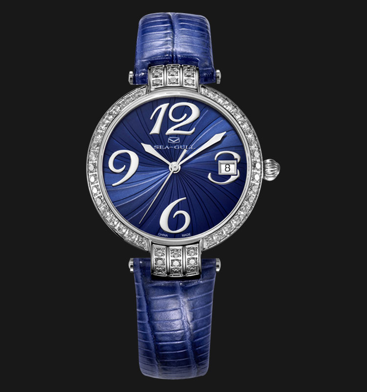 Seagull 719.752LBE - Automatic Mechanical Blue Leather Machtwatch