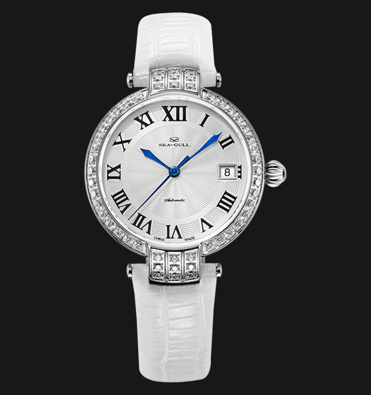 Seagull 719.752LWH - Automatic Mechanical White Leather Machtwatch