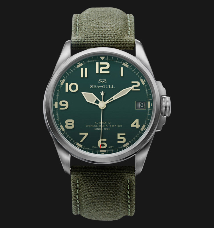 Seagull 813.581 - Automatic Mechanical Green Special Military Edition Machtwatch