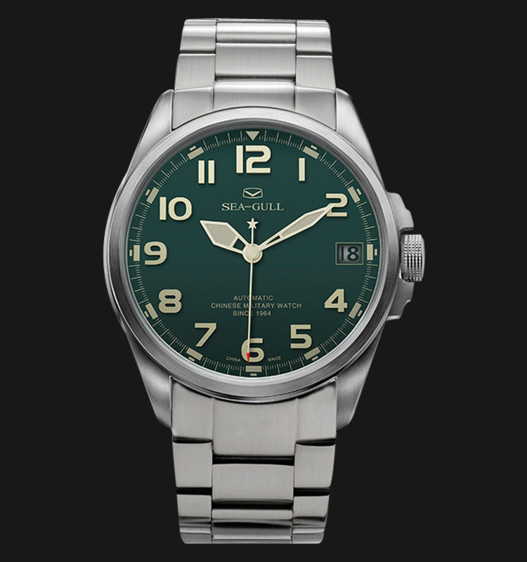 Seagull 813.581G - Automatic Mechanical Green Special Military Edition Machtwatch