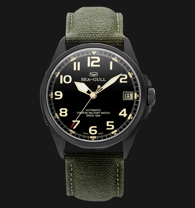 Seagull 813.581H - Automatic Mechanical Black Special Military Edition Machtwatch