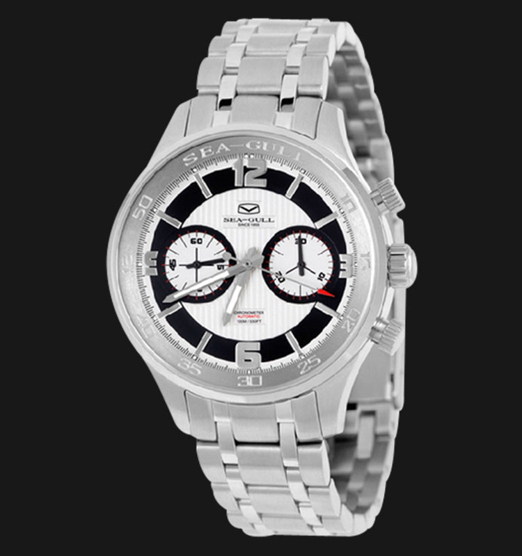 Seagull 816.345 - Manual Mechanical Chronograph Stainless Steel Machtwatch