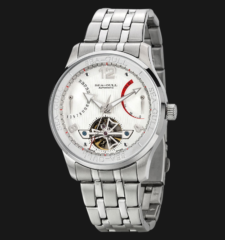 Seagull 816.350 - Automatic Mechanical Open Heart Stainless Steel Machtwatch