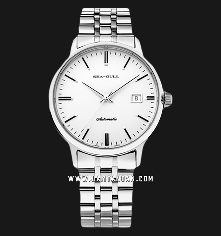 Seagull 816.362 Classic Automatic Mechanical Silver Dial Stainless Steel Strap Machtwatch
