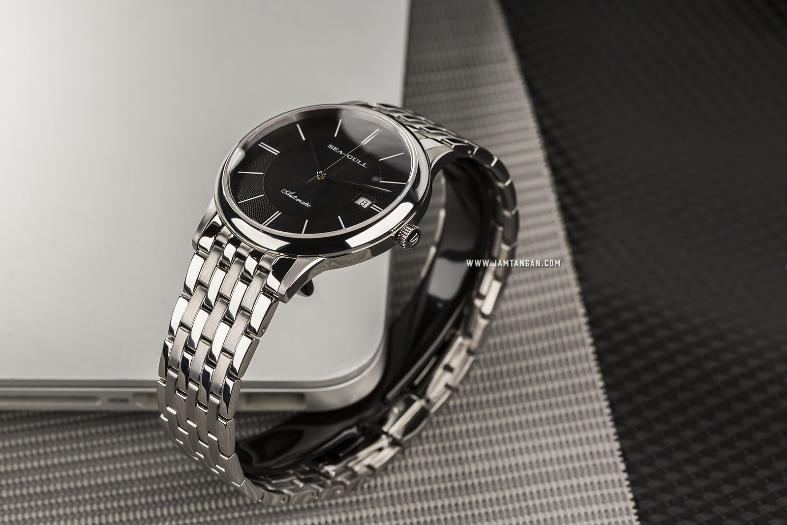Seagull 816.364L-BL Classic Automatic Mechanical Ladies Black Dial Stainless Steel Machtwatch