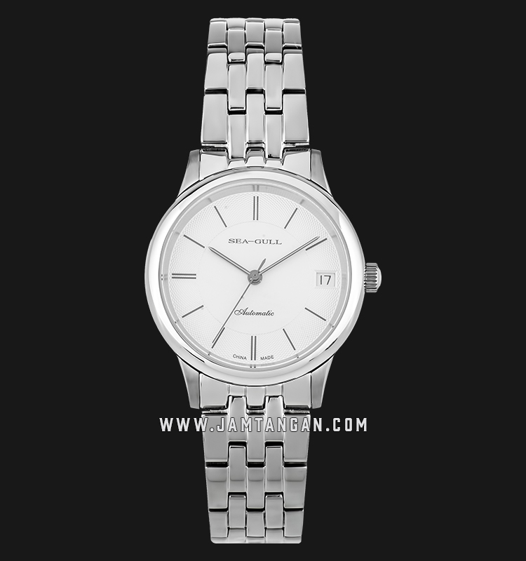 Seagull 816.364L-WH Classic Automatic Mechanical Ladies White Dial Stainless Steel Machtwatch