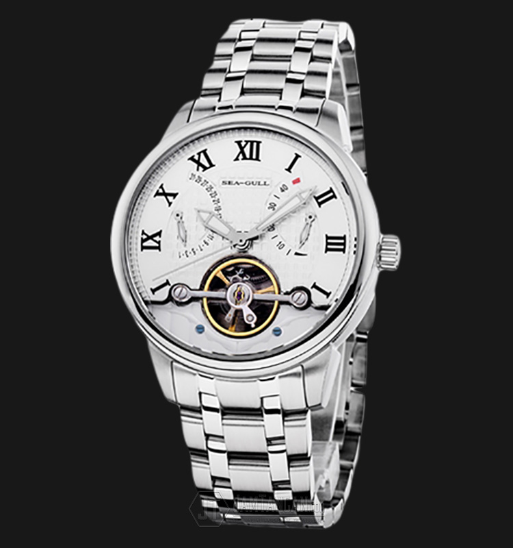 Seagull 816.412 Automatic Mechanical Power Reserve Flyweel Stainless Steel Machtwatch