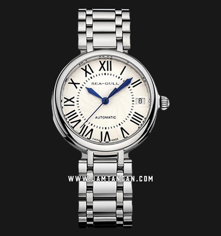 Seagull 816.417L Classic Automatic Mechanical Silver Dial Stainless Steel Strap Machtwatch