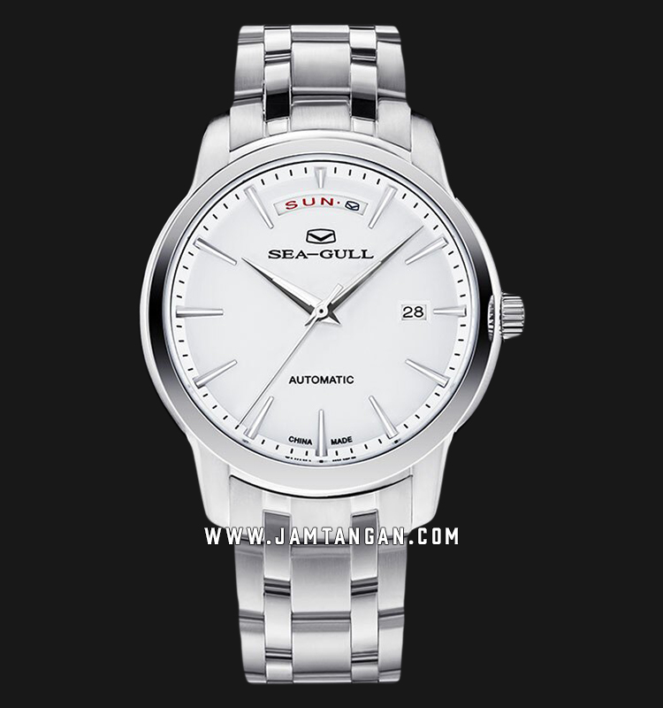 Seagull 816.422 Classic Automatic Mechanical Silver Dial Stainless Steel Strap Machtwatch