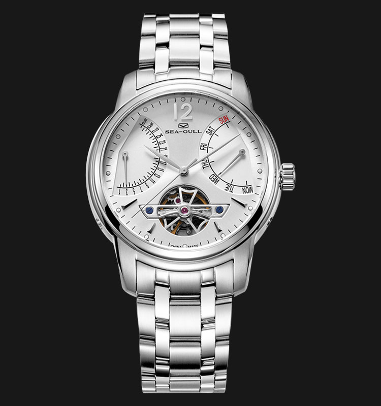 Seagull 816.425-WH - Automatic Mechanical Open Heart Stainless Steel Machtwatch