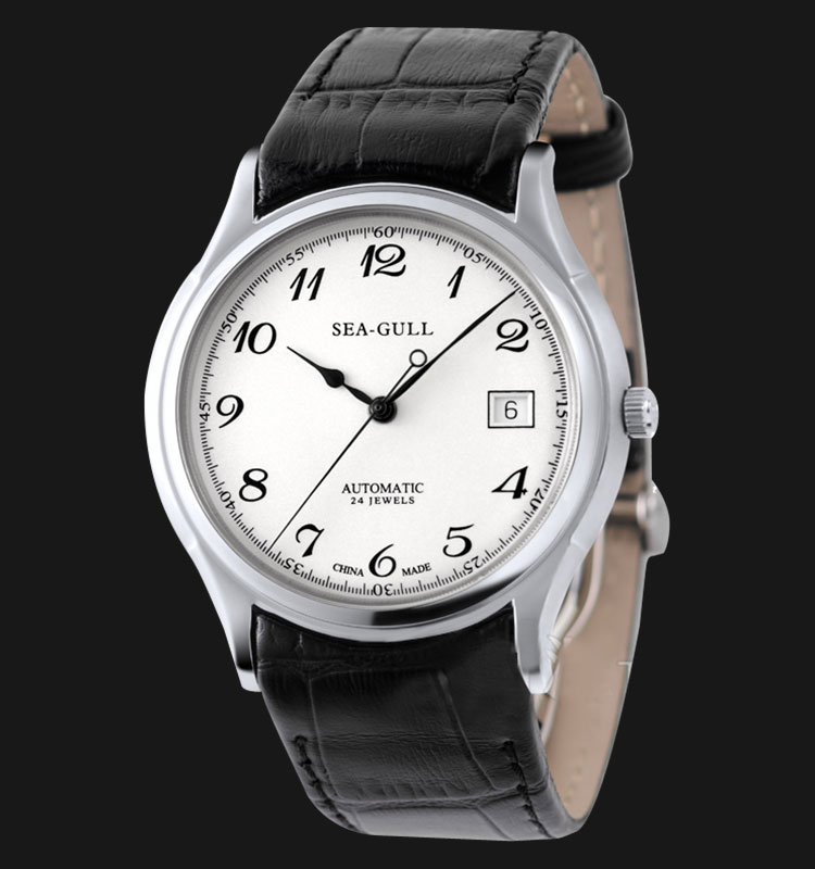 Seagull 819.332 - Automatic Mechanical Watch Black Leather Machtwatch