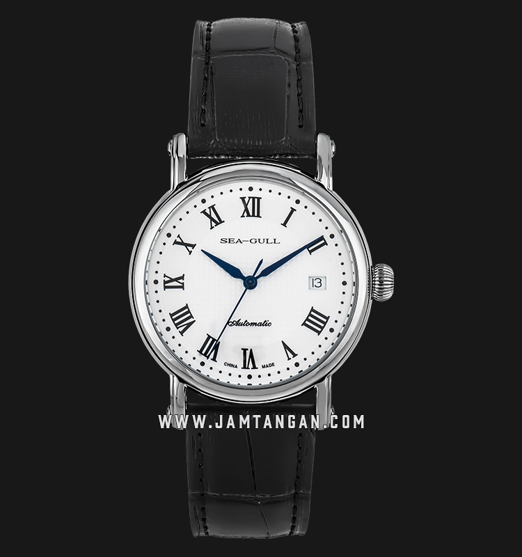 Seagull 819.368 - Automatic Mechanical Black Leather Machtwatch