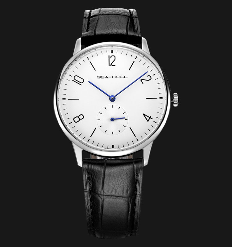 Seagull 819.612 - Automatic Mechanical Black Leather Machtwatch
