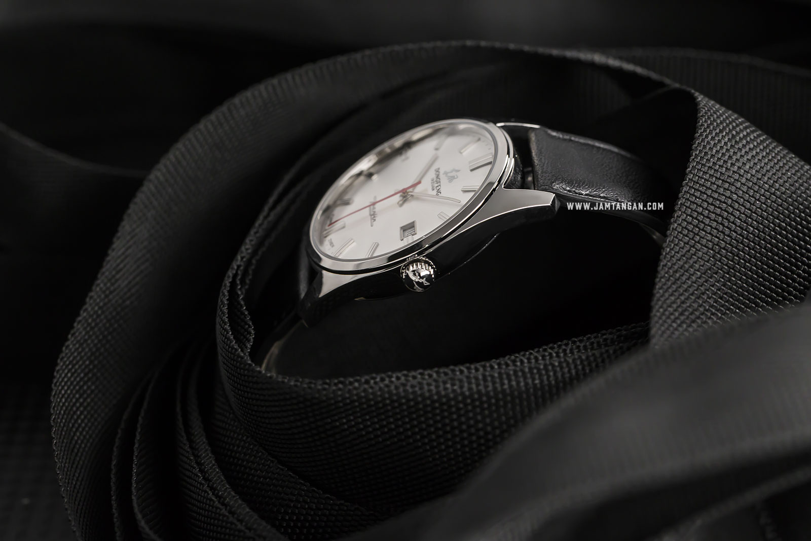 Seagull DONGFENG-FKDF Dongfeng Re-issue Seagull Automatic Mechanical White Dial Black Leather Strap Machtwatch