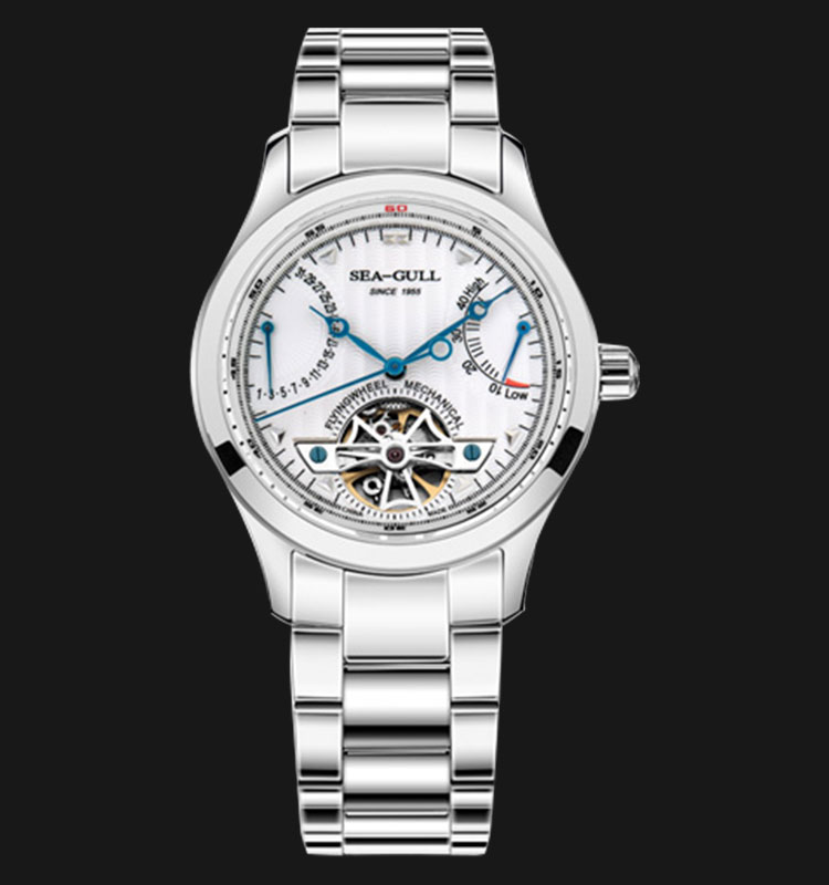 Seagull M163S - Automatic Mechanical Open Heart Stainless Steel Machtwatch