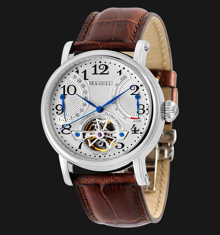 Seagull M172S - Automatic Mechanical Flying Wheel Brown Leather Machtwatch
