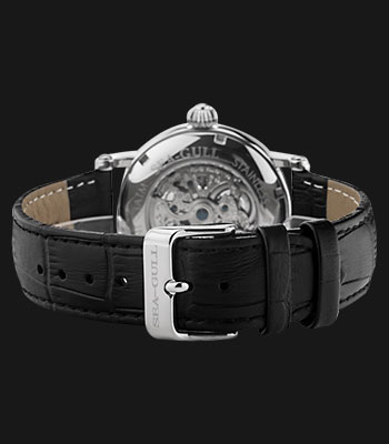 Seagull M182SK-BL - Automatic Mechanical Skeleton Dial Black Leather Thumbnail