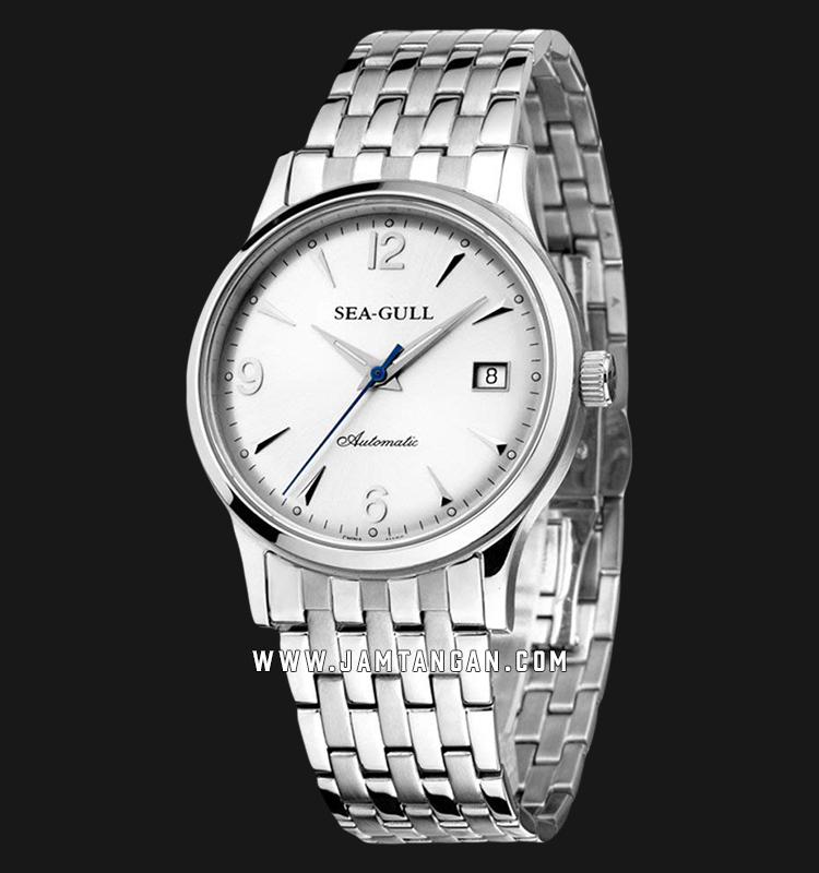 Seagull M198S Ultra-Thin Automatic Mechanical Silver Dial Stainless Steel Strap Machtwatch
