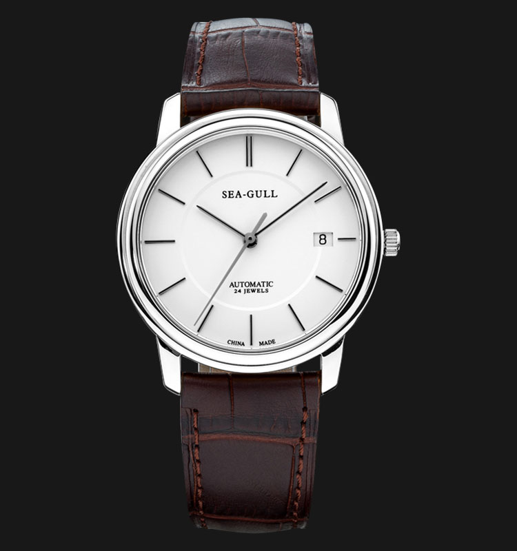 Seagull M201S - Automatic Mechanical Watch Brown Leather Machtwatch