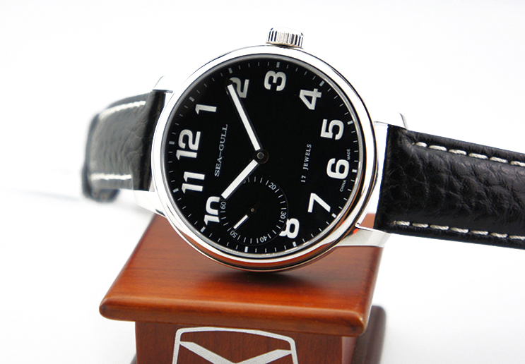 Seagull M222S-BL - Manual Mechanical Black Leather Strap Machtwatch