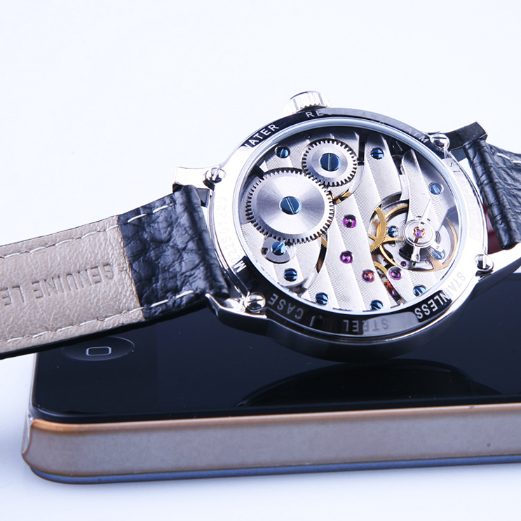 Seagull M222S-OR - Manual Mechanical Black Leather Strap Machtwatch