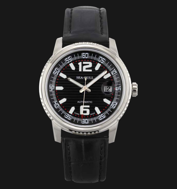 Seagull M306SH - Automatic Mechanical Black Leather Machtwatch