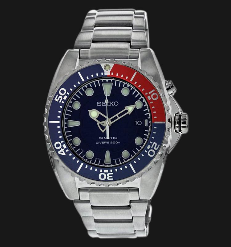 Seiko SKA369P1 Kinetic Diver 200M Blue Dial Machtwatch