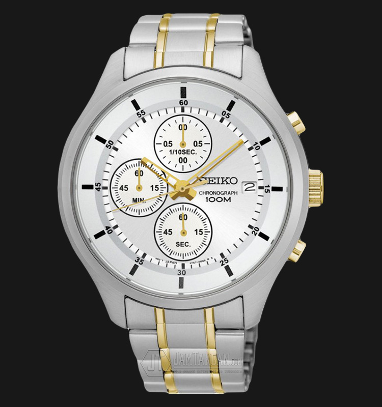 Seiko Chronograph SKS541P1 Silver Dial Stainles Steel Bracelet Machtwatch