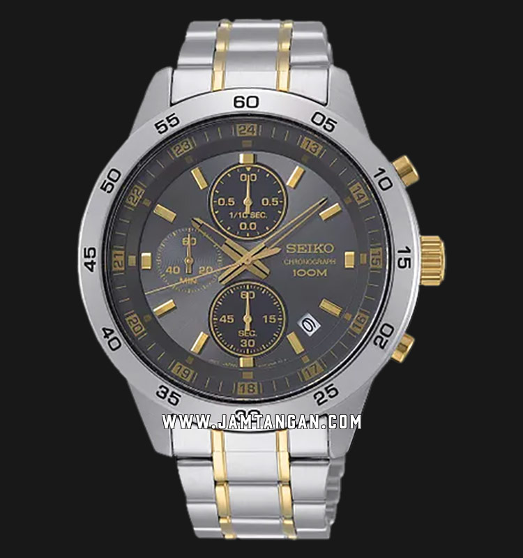 Seiko Chronograph SKS645P1 Brown Dial Stainless Steel Strap Machtwatch