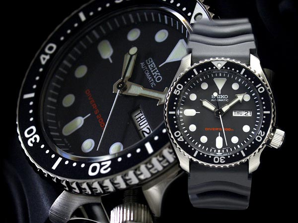 Seiko SKX007K1 Automatic Divers 200M Black Dial Machtwatch