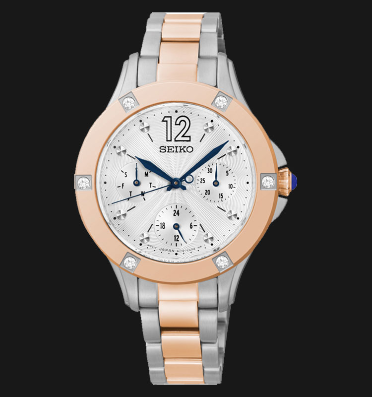 Seiko Ladies SKY670P1 Two-Tone Rose Gold Stainless Steel Machtwatch