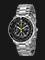 Seiko SNA411P1 Flightmaster Pilot Alarm Chronograph Black Dial Stainless Steel Thumbnail