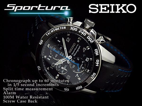 Seiko Sportura Chronograph SNAE79P1 Machtwatch