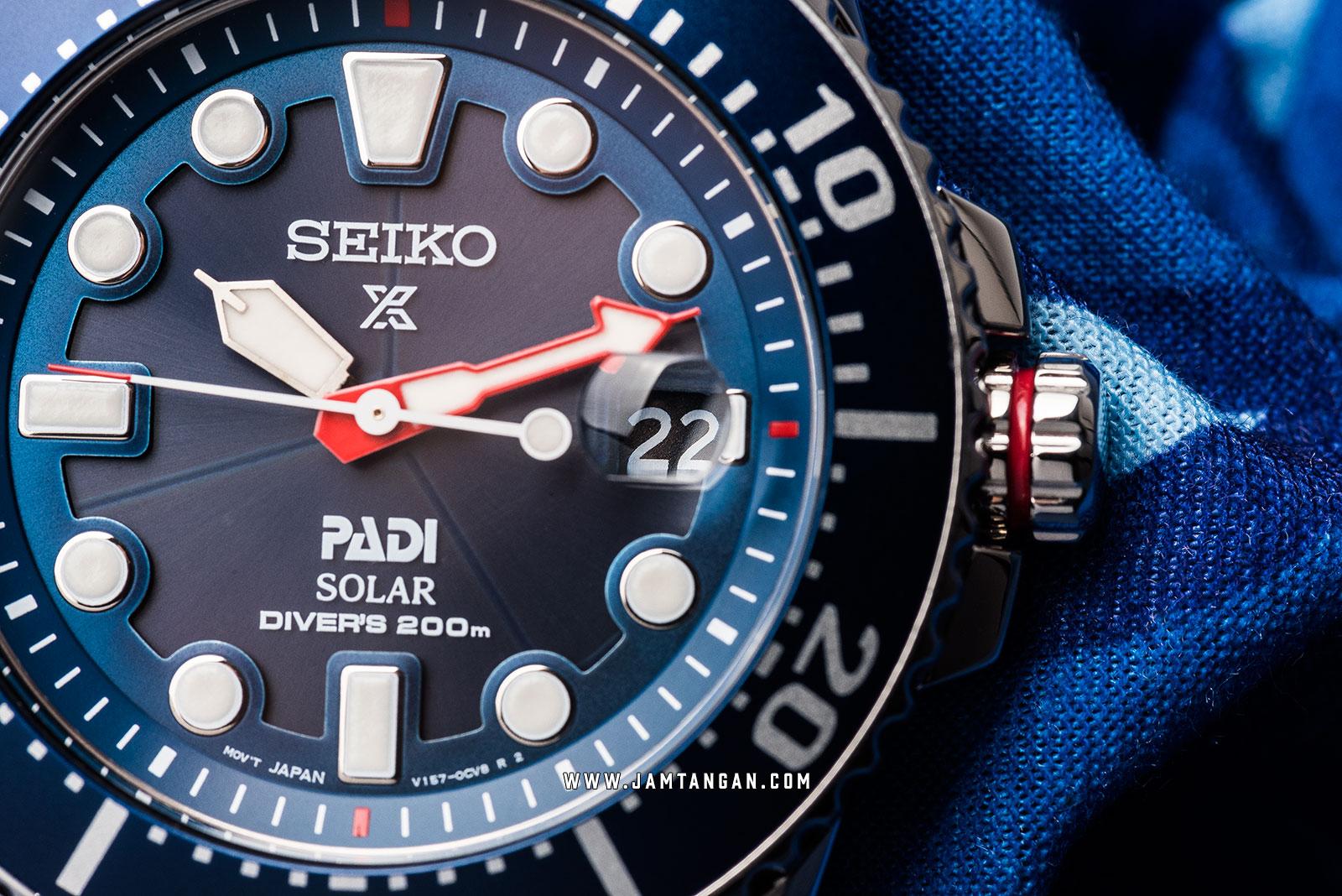 Seiko Prospex SNE435P1 PADI Solar Divers 200M Blue Dial Special Edition Machtwatch
