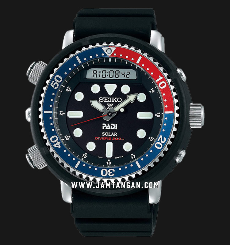 Seiko Prospex SNJ027P1 Solar PADI Baselworld 2019 Water Resistance 200M Black Rubber Strap Machtwatch