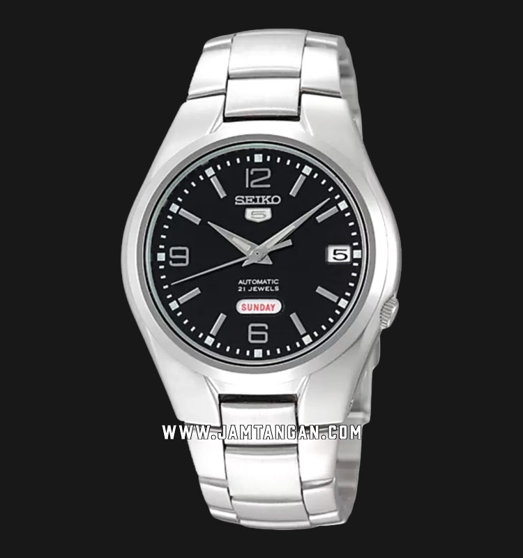 Seiko 5 SNK623K1 Automatic Black Dial Stainless Steel Bracelet Machtwatch