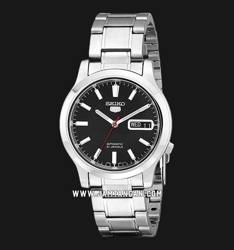 Seiko 5 SNK795K1 Automatic Black Dial Stainless Steel Strap Machtwatch