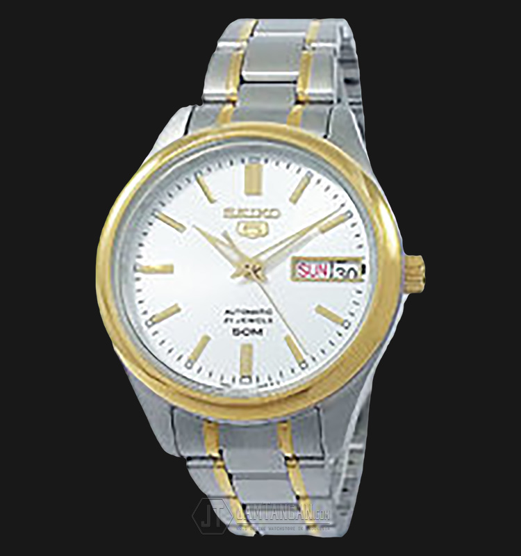 Seiko 5 Ladies SNK880K1 Automatic Two Tone Stainless Steel Machtwatch