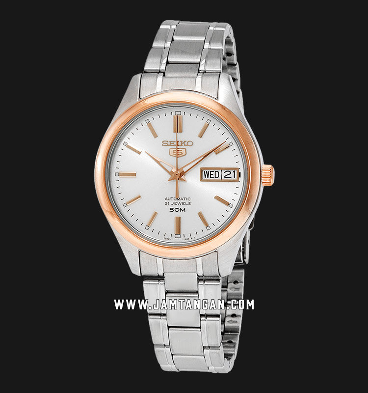Seiko 5 SNK882K1 Automatic White Dial Stainless Steel Strap Machtwatch