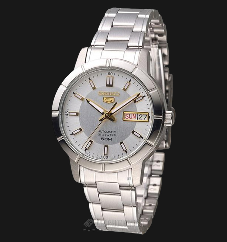 Seiko 5 Automatic SNK897K1 Ladies Silver Dial Stainless Steel Machtwatch