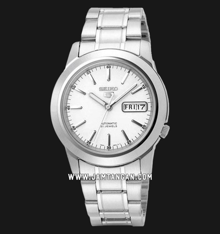 Seiko 5 SNKE49K1 Automatic White Dial Stainless Steel Machtwatch