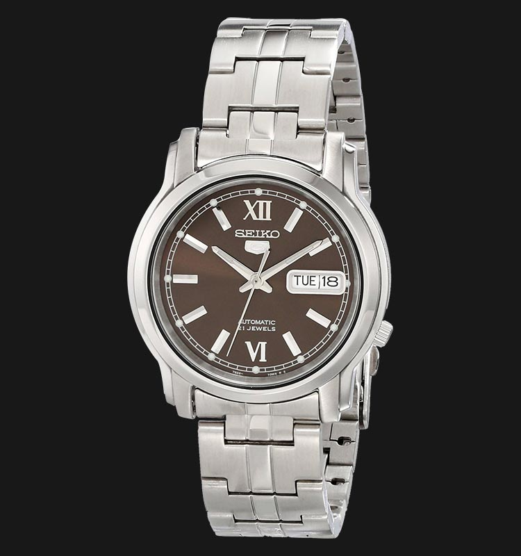Seiko 5 SNKK79K1 Automatic Brown Dial Stainless Steel Machtwatch