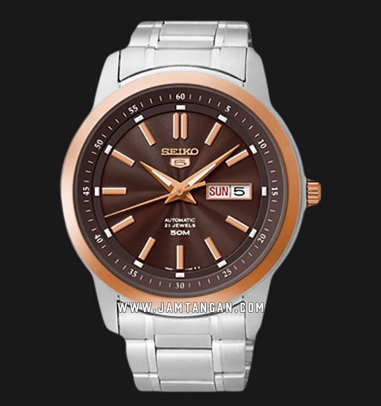 Seiko 5 SNKM90K1 Automatic 50M Water Resistance Stainless Steel Strap Machtwatch