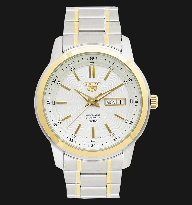 Seiko 5 SNKM92K1 Automatic Silver/White Dial Stainless Steel Machtwatch